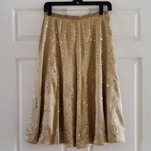 Silk Hand Sequined Skirt